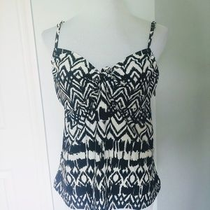 Swim Suit Top. Black & White Baby Doll Style